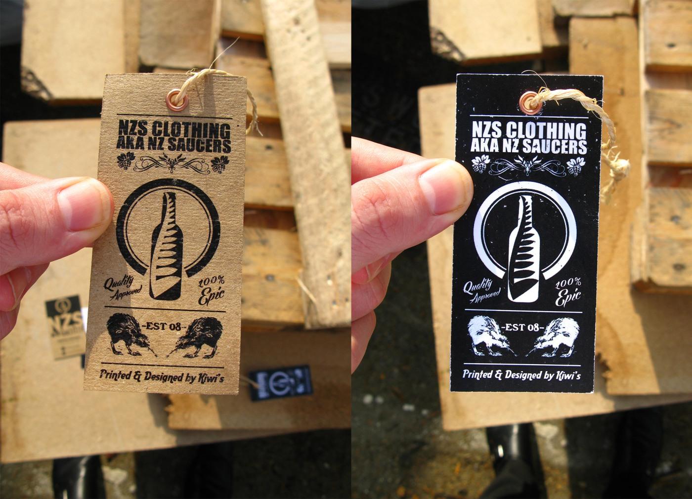 NZS Clothing Hang Tags